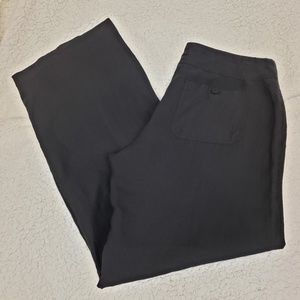 Vince 100% linen black drawstring casual comfy